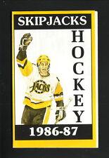 Baltimore Skipjacks--1986-87 Pocket Schedule--Miller Beer--Penguins Affiliate
