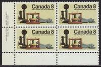 CANADA #641 8¢ Telephone Centenary LL Inscription Block MNH