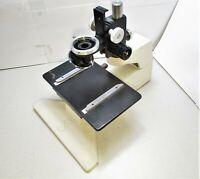 Semprex Microscope Base & Stage W/Nikon 3 Place Nosepiece / Focus Assembly