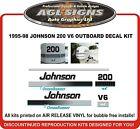 1995 - 98 Johnson 200 V6 Ocean Runner Replacement Decal Kit  225