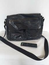FOSSIL Black Leather laptop/office bag unisex
