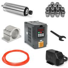 2.2KW Spindle Motor ER20 HY Water-Cooled+VFD Inverter+Collet+Bracket CNC Router