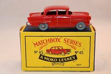 Matchbox A Moko Lesney No 45 Vauxhall GMW very near mint in box ULTRA RARE RED