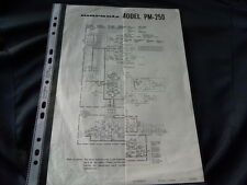 Marantz Model PM 250 Factory Original Schematic Diagram New