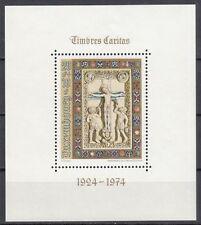Luxemburg Block 9 postfrisch, 50 Jahre Wohlfahrtsmarken Caritas Miniaturen