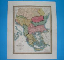 1835 XXL ORIGINAL MAP HUNGARY SERBIA BULGARIA ROMANIA GREECE BOSNIA TRANSYLVANIA