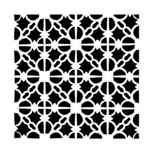 Linked Tile Layering Stencil 12x12 Lg Design for Home Decor Floors Paper Crafts