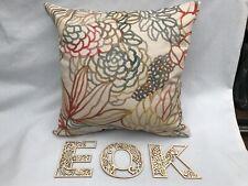 """40cm 16"""" Voyage Althorp Cinnamon Linen Print Cushion Cover"""