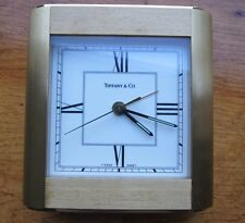 TIFFANY & CO DESK MANTEL TABLE CLOCK, SWISS HEAVY SOLID BRASS. PARTS