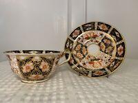 Vintage ROYAL CROWN DERBY Imari #2451 Coffee Cup/Teacup & Saucer Set