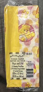 Vintage Yellow & Care Bear Patterned Tissue Paper 2 Printed/3 Solid  18 sq ft