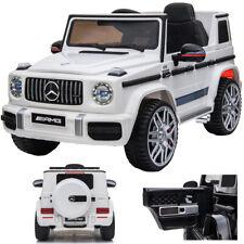 Mercedes-Benz G 63 G63 AMG V8 Biturbo Kinderauto Kinderfahrzeug Elektroauto Weiß
