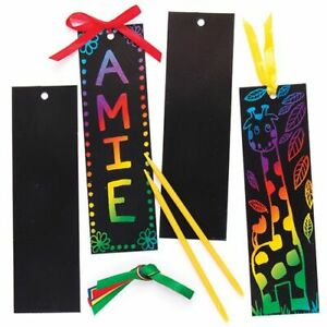 3-12 SCRATCH ART BOOKMARKS CREATE YOUR OWN UNIQUE AND STUNNING BOOKMARKS