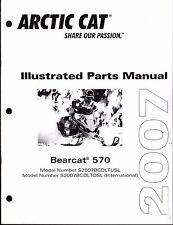 2007 ARCTIC CAT SNOWMOBILE BEARCAT 570  PARTS MANUAL P/N 2257-733  (690)