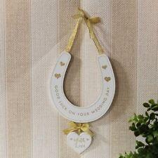 Good Luck On Your Wedding Day Horseshoe Plaque Sign Wedding Gift