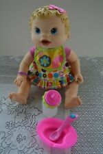 Baby Alive Changing Time Interactive Doll w/ Accessories Wets Wiggles 2010 Talks