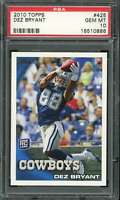 Dez Bryant Rookie Card 2010 Topps #425 PSA 10