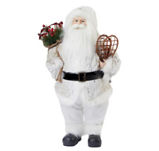 "NEW  24"" Santa Standing Figurine with Snowshoes And Gifts $170"