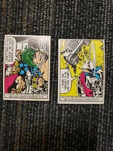 1966 Donruss THOR #59 & #62 Marvel Super Heroes 2 Card Lot MID GRADE