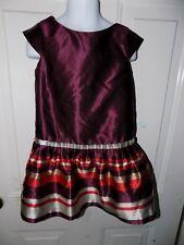 JANIE AND JACK Maroon Bouquet Dressy Dress Size 4 Girl's EUC