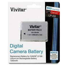 Vivitar LP-E8 High Capacity 1300mAH Li-on Battery (Canon LP-E8 Replacement)