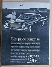 1961 magazine ad for Chrysler -  Newport at airfield, not a jr. edition