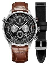 Rotary Gents Aquaspeed Interchangeable Pilot Watch - GS00100/04 NEW