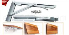 coppia staffe reggi mensola richiudibili ribaltabile da cm 30 x 15 - fino 60 kg