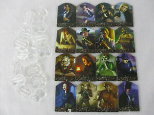 Arkham Horror 2nd Edition COMPLETE INVESTIGATOR STANDEES & STANDS SET FFG!!