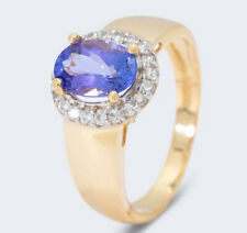 Harry Ivens IV Ring GG 585 Tansanit AAA Zirkone
