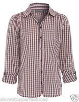 mode à carreaux T-shirt enfant filles manches longues haut boutonné CHEMISIER 7