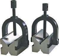 Prismen- Paar 70 x 45 x 40 mm für Welle 5 - 25 mm - mit Spannbügel DIN 876/0