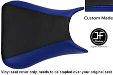 BLACK ROYAL BLUE VINYL CUSTOM 03-05 FOR YAMAHA 600 YZF R6 FRONT SEAT COVER ONLY