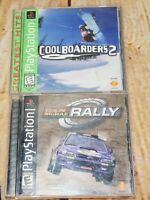 PS1 Colin McRae Rally 2000 & Cool Boarders 2 1997 Complete