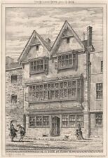 House in Notte St., Plymouth. Devon 1874 old antique vintage print picture