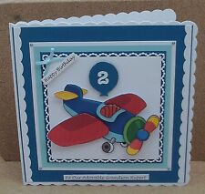 Personalised Large Aeroplane Birthday Card Son Grandson 1st 2nd 3rd.... & Verses
