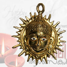 Rare Brass Sun Surya God Namaskar Auspicious Sign Vastu Energized Wall Hanging