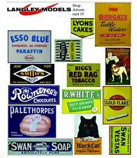 More details for shop signs small paper copy of enamel signs smf14n colour oo scale models decals