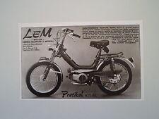 advertising Pubblicità 1976 LEM PRATIKAL KIT SL 50