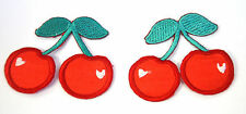 2X CHERRY FRUIT SLOT MACHINE  Embroidered Iron Sew On Cloth Patch Badge APPLIQUE