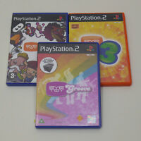 Bundle Of 3 Playstation 2 Eye Toy Games Play Groove Play 3 PS2