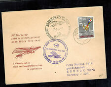 1962 Luxembourg 50th Anniversary First Flight Cover FFC Brueck DDR East Germany