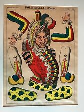 """Vintage Rare Original Print Epinal France #1340 """"Polichinelle""""  Make Offer"""