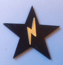 Bowie Tribute Pin....Blackstar with Silver Lightening Bolt