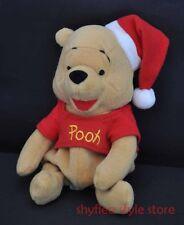 Santa Claus Winnie the Pooh Bear Mini Bean Bag Disney Plush Christmas Holiday