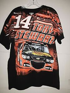 Tony Stewart #14 Nascar Total Print T-shirt   XL