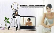 "B-Land 5.7"" LED Ring Light with Phone Holder Includes Carrying Bag"