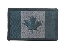 CANADA FLAG CANADIAN MAPLE LEAF MILITARY TACTICAL SWAT MORALE PATCH BLUE GRAY