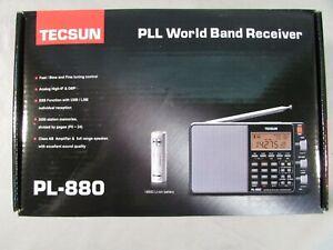 Tecsun Silver PLL World Band Receiver PL-880