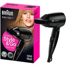 BRAUN Satin Hair 1 Style&Go klappbarer Haartrockner 1200W Reise Föhn schwarz